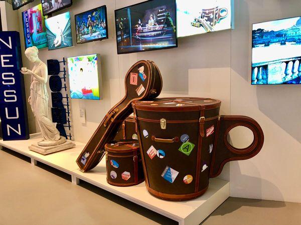 Wnętrze Muzeum Kawy Lavazza w Turynie