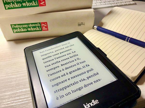 Biała jak mleko czerwona jak krew czytanie po włosku, fragment książki