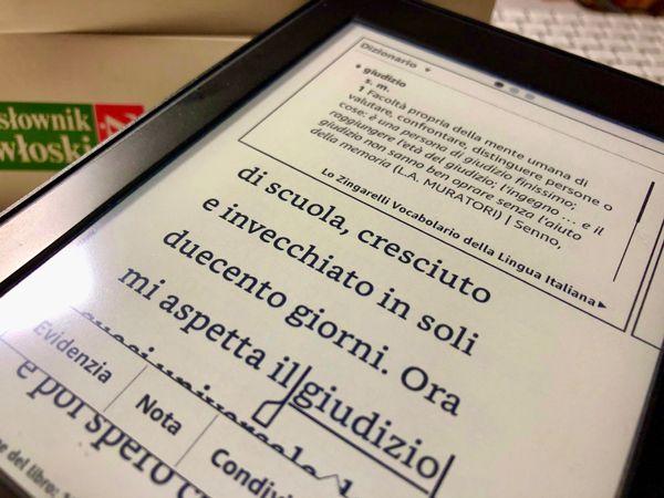 Biała jak mleko czerwona jak krew czytanie książki po włosku ze słownikiem