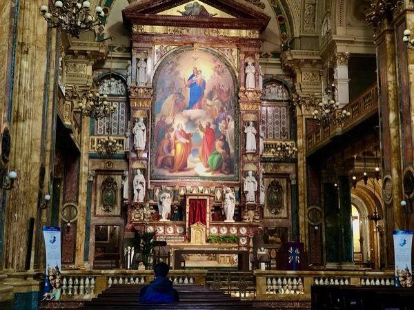 Ołtarz główny Bazyliki w Turynie, kościół księdza Bosco założyciela Salezjanó∑