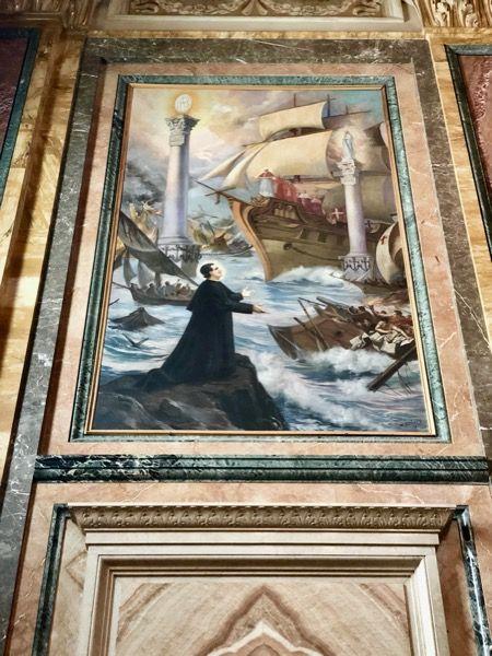 Obraz Księdza Bosko w Bazylice Salezjanów w Turynie