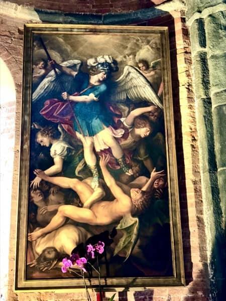 Obraz św. Archanioła Michała w kościele Sacra Di San Michele