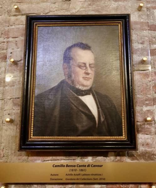 Portret Camillo Benso Cavour, właściciel zamku w Grinzane w Piemoncie