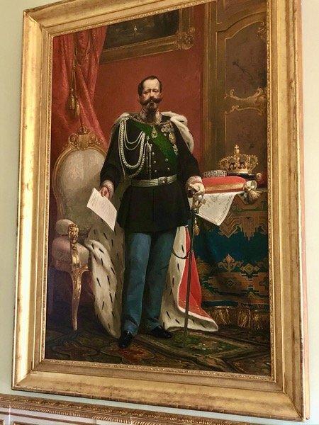 Obraz Pierwszego króla Włoch Vittorio Emanuele II