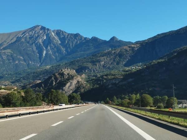 Autostrada na trasie Turyn - Aosta